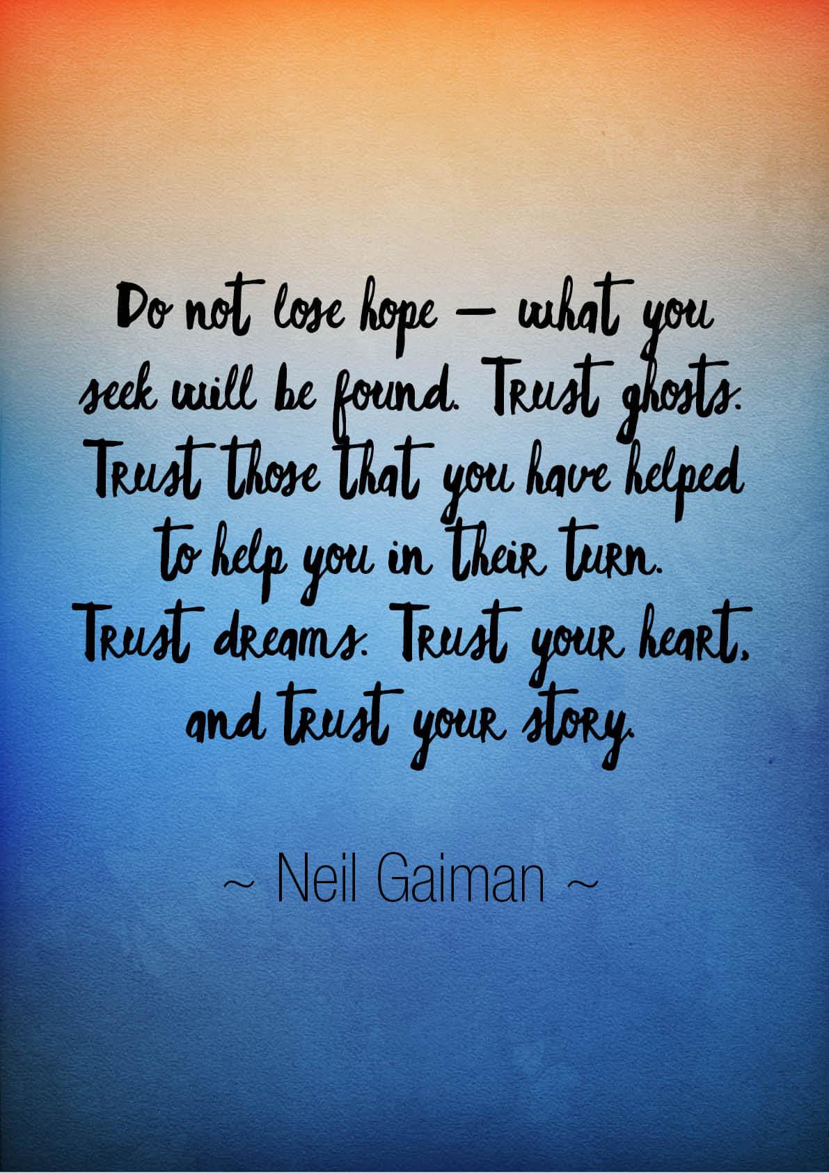 Trust Quote Trust Your Instincts 0186